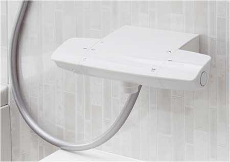 カウンターと同素材を使用の「スゴピカ水栓」