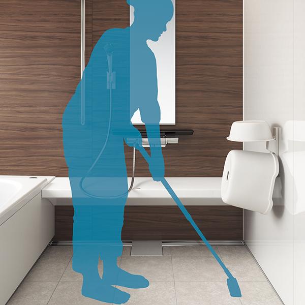 床にモノを置かないで済むのでお掃除も楽