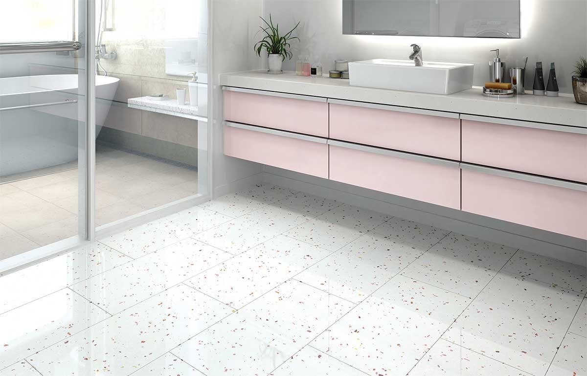 大理石も床暖房も叶える床材