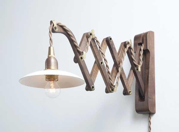 AXCIS Wood Bracket SCISSOR WALNUT
