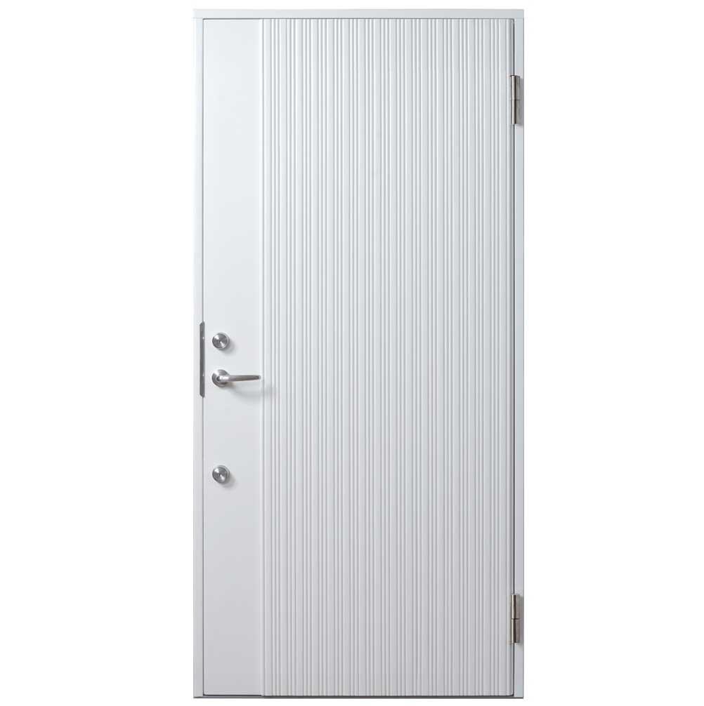 ガデリウス・インダストリー 木製断熱玄関ドア「Sweden Door WAVE(W) ホワイト」
