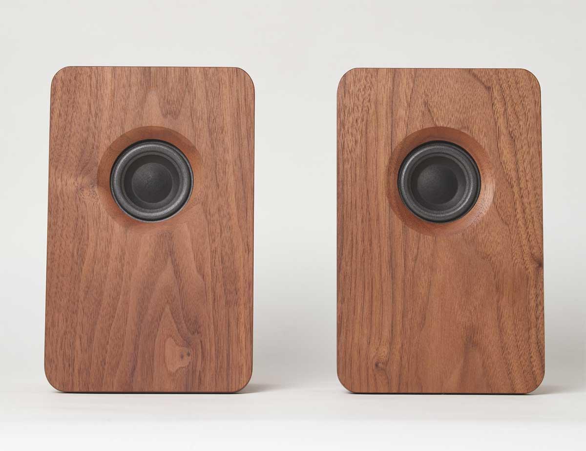 宗七音響 天然木 デスクトップパッシブスピーカー