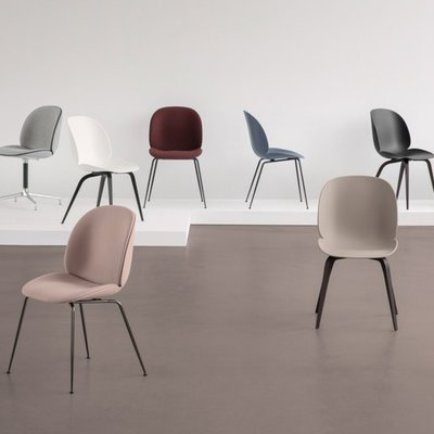 GUBI「Beetle Dining Chair stackable」フロント布張 選べる組み合わせ