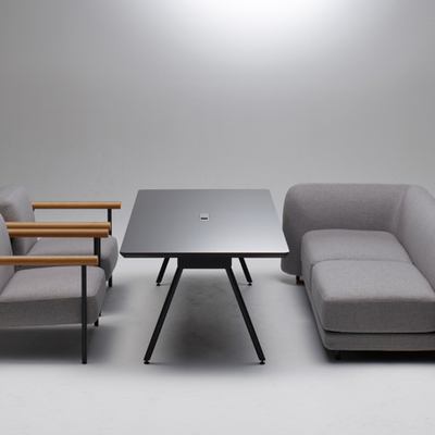 bellacontte「spine meeting table スパインミーティングテーブル」